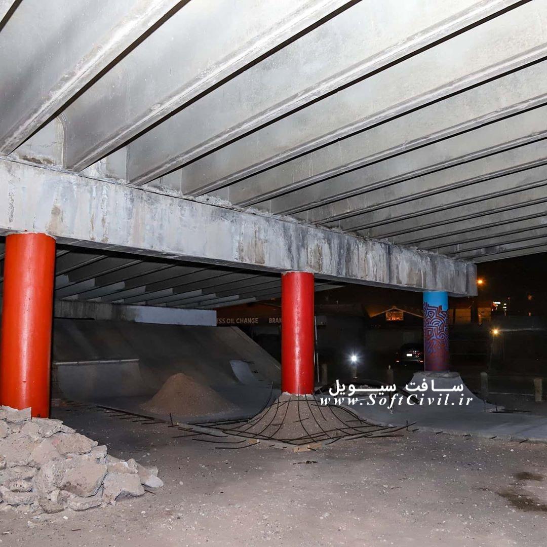 مراحل ساخت پیست اسکیت در زیرزمین