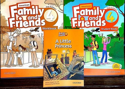 مجموعه فمیلی اند فرندز در یک قاب (کتاب دانش آموز، کتاب کار، کتاب داستان *پرنسس کوچولو*)