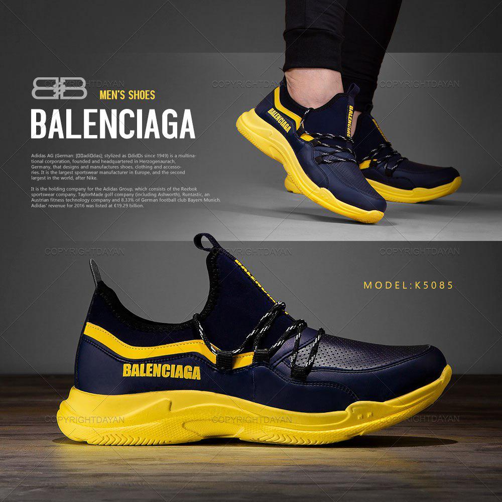 کفش مردانه بالنسیاگا Balenciaga مدل K5085 (سرمه ای زرد)
