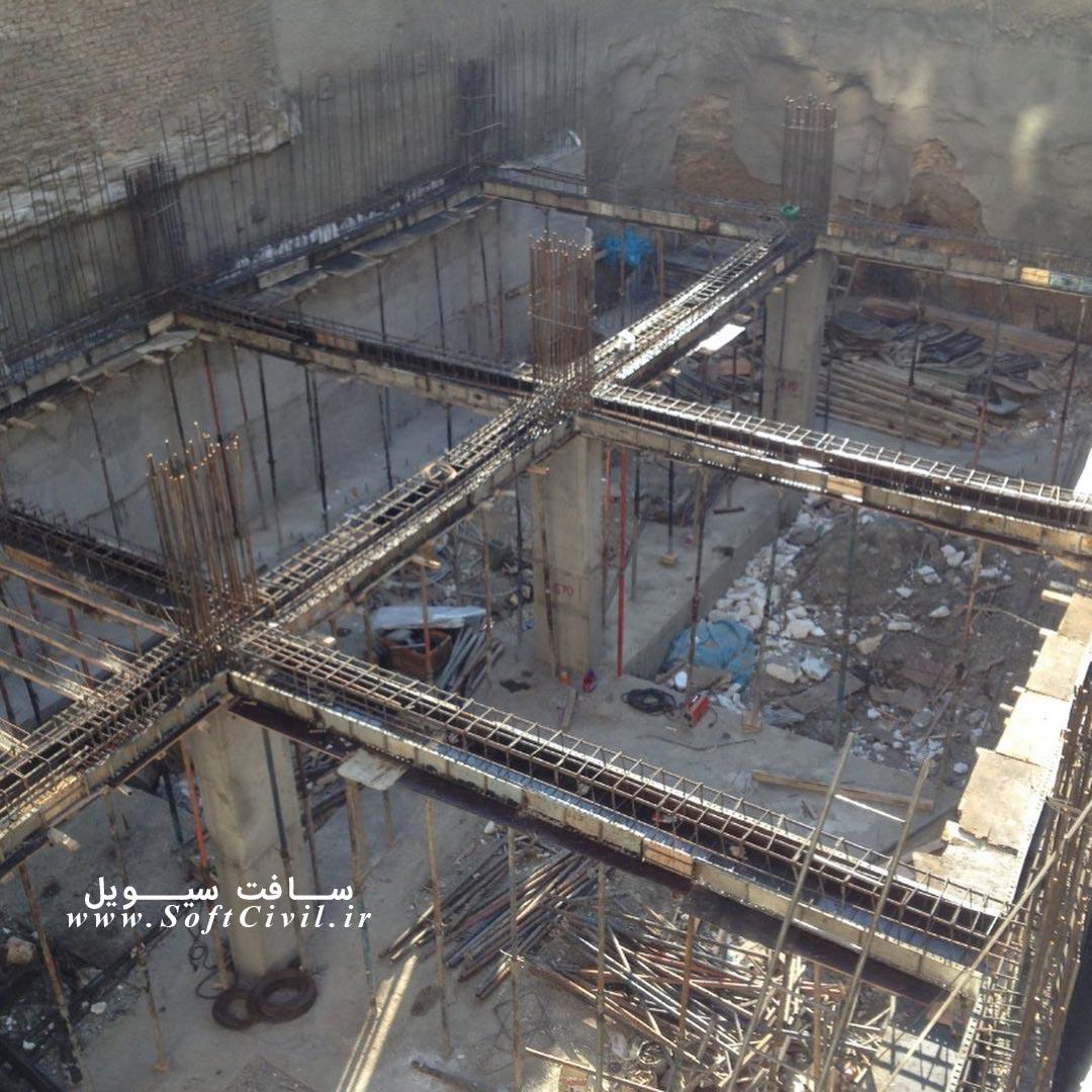 اجرای آرماتوربندی، قالب بندی و بتن ریزی دیوار برشی در سازه بتنی