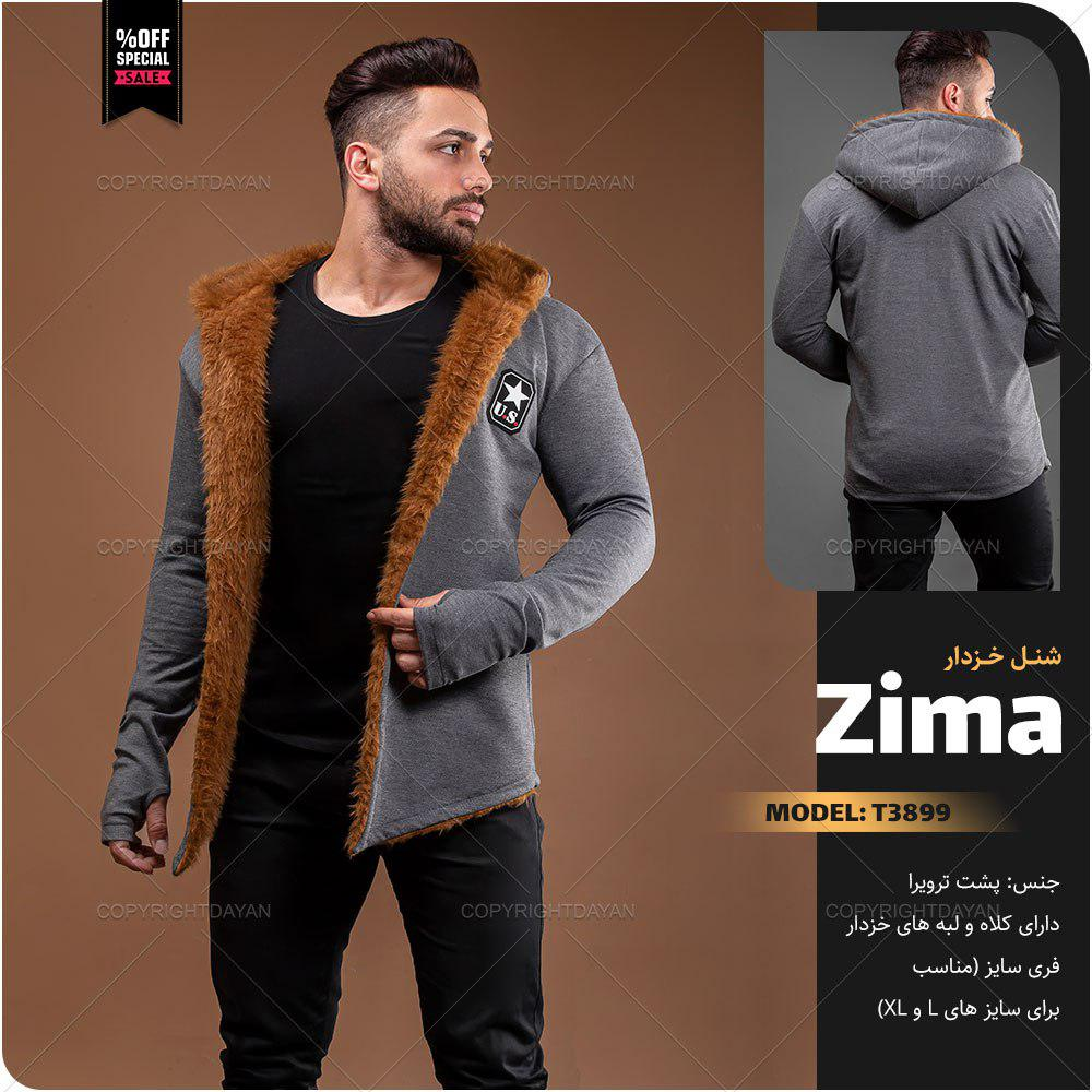 شنل خزدار مردانه Zima مدل T3899
