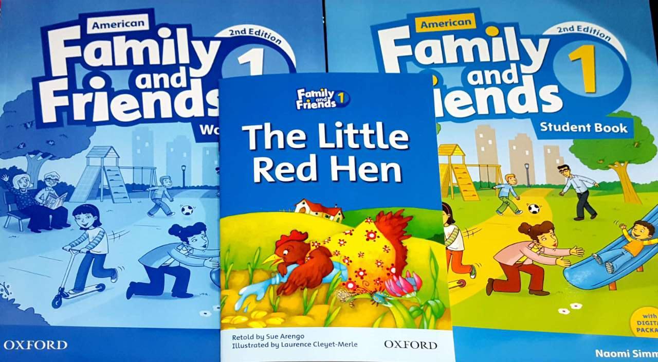 مجموعه فمیلی اند فرندز در یک قاب (کتاب دانش آموز، کتاب کار، کتاب داستان *مرغ قرمز کوچولو*)