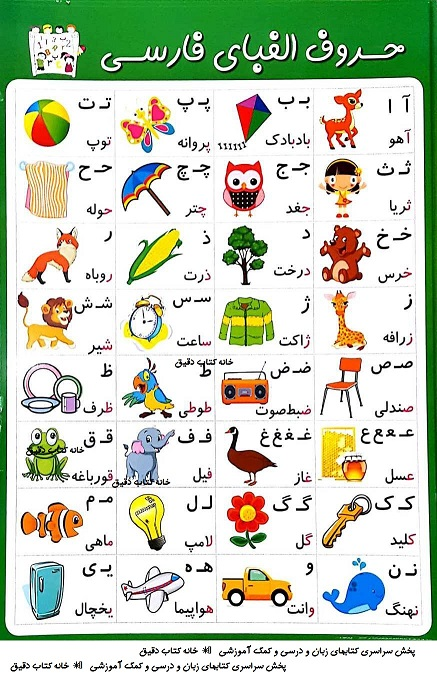 پوستر آموزشی الفبای فارسی