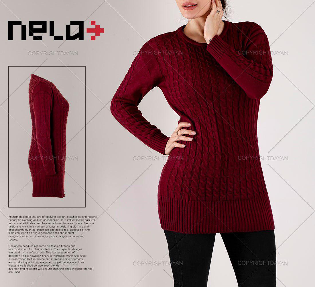 بافت زنانه نلا Nela مدل Y7790 (جگری)