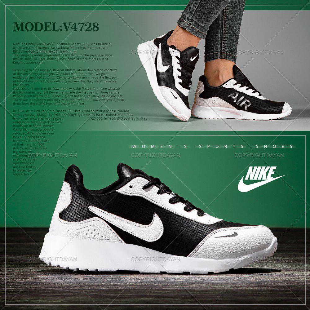 کفش زنانه Nike مدل V4728 رنگ مشکی سفید