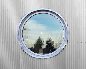 پنجره دوجداره upvc دایره ای