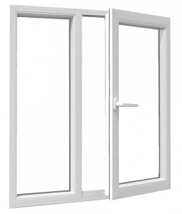 پنجره تک حالته2 جداره
