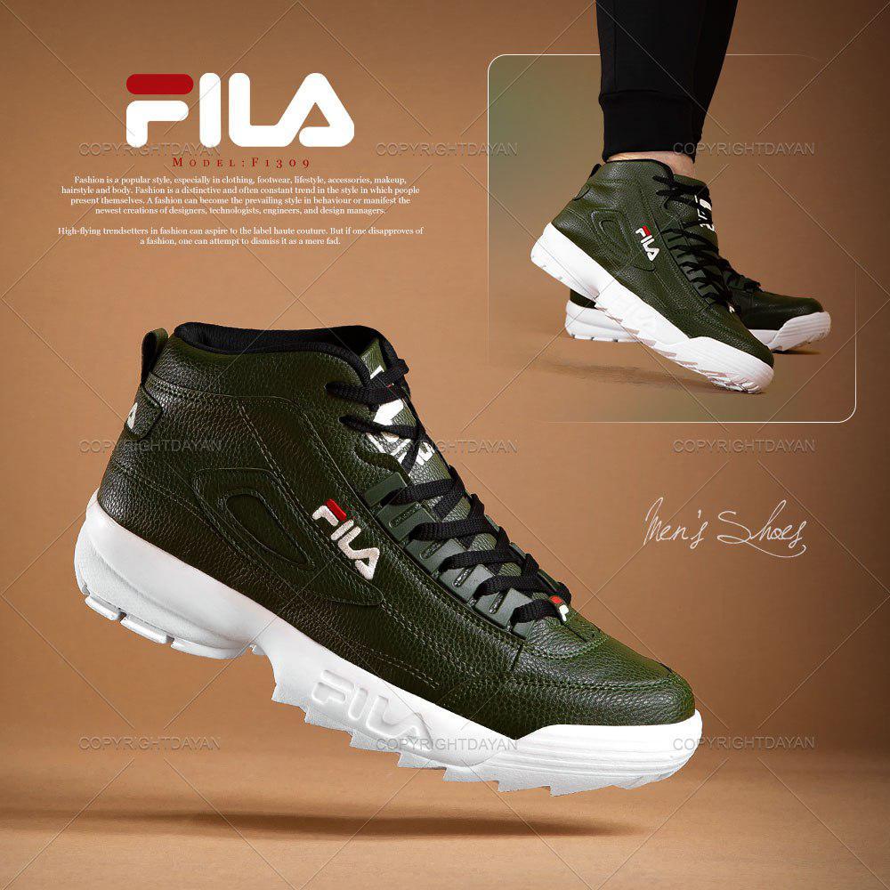 کفش ساقدار مردانه Fila مدل F1309 (سبز)