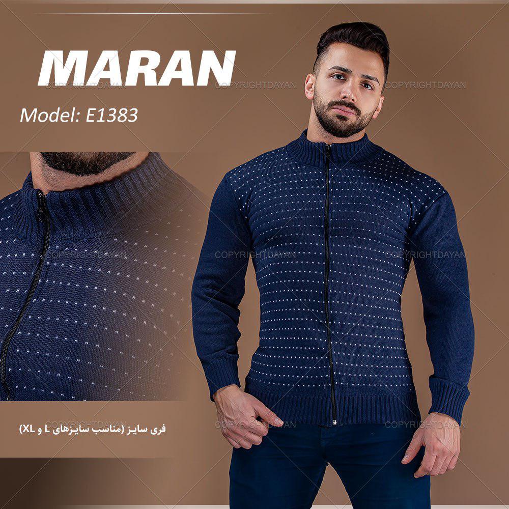 بافت مردانه Maran مدل E1383 (سرمه ای)