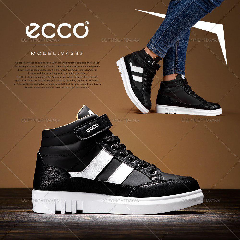 کفش ساقدار زنانه Ecco مدل V4332 (مشکی سفید)