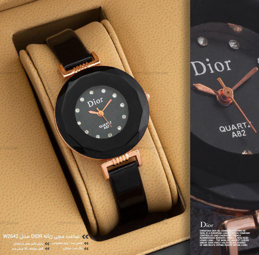 ساعت مچی زنانه Dior مدل W2642 (مشکی)