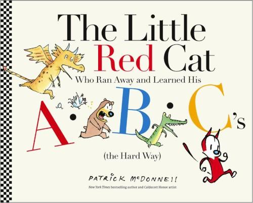 کتاب داستان کودکانه گربه کوچولوی قرمزی که فرار کرد و حروف الفبا را یاد گرفت