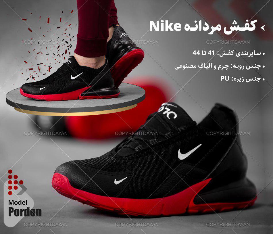کفش مردانه Nike مدل Porden (قرمز مشکی)