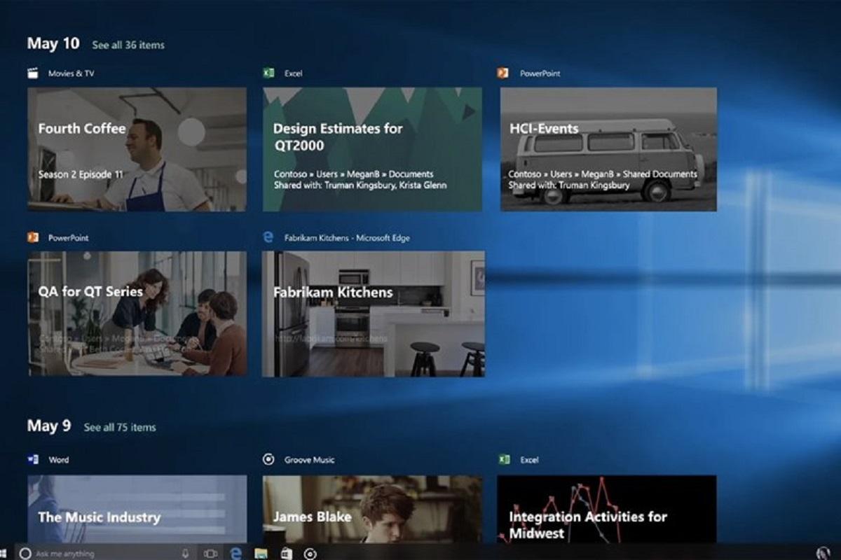ویندوز ۱۰ با قابلیت Timeline خداحافظی میکند