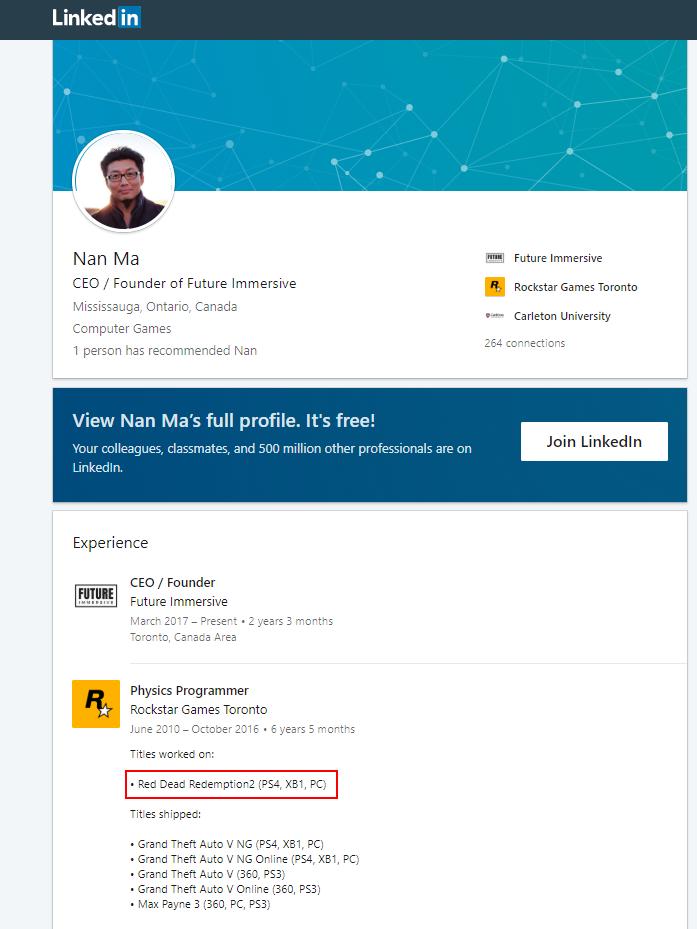 پروفایل LinkedIn