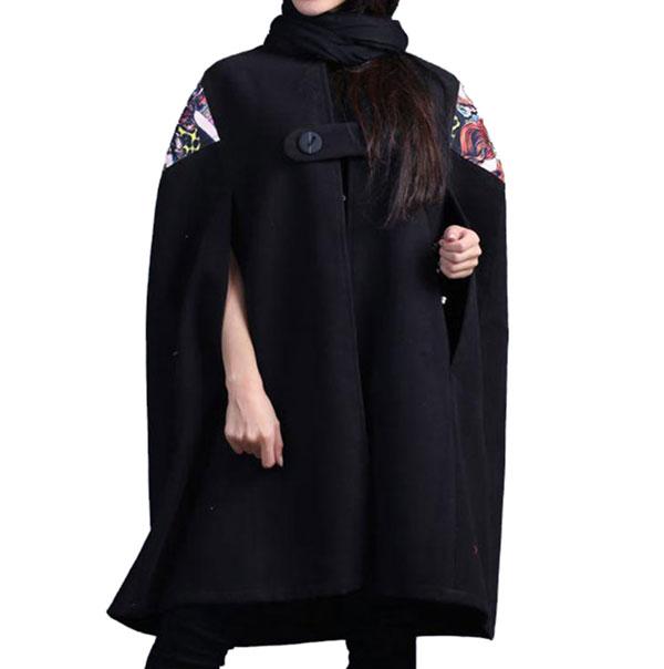 خرید شنل فوتر طرح دار بدون آستر هانی Hani مشکی