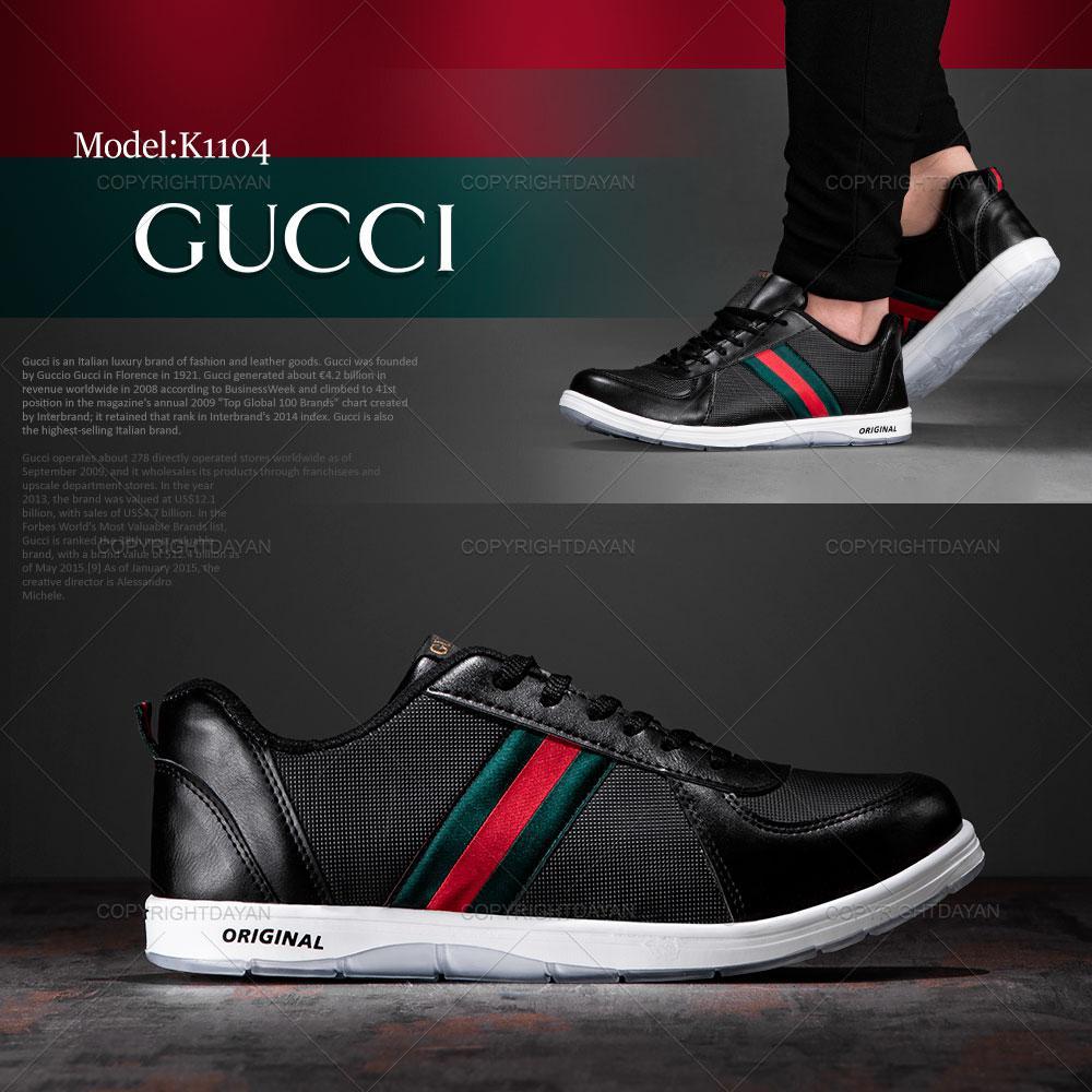 کفش مردانه Gucci مدل K1104 (مشکی)