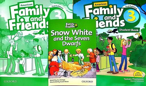 مجموعه فمیلی اند فرندز در یک قاب (کتاب دانش آموز، کتاب کار، کتاب داستان *سفیدبرفی و هفت کوتوله)