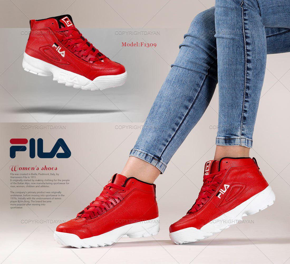 کفش ساقدار زنانه Fila مدل F1309 (قرمز سفید)
