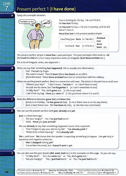 نمونه صفحه English Grammar in Use 4th گرامر این یوس متوسط
