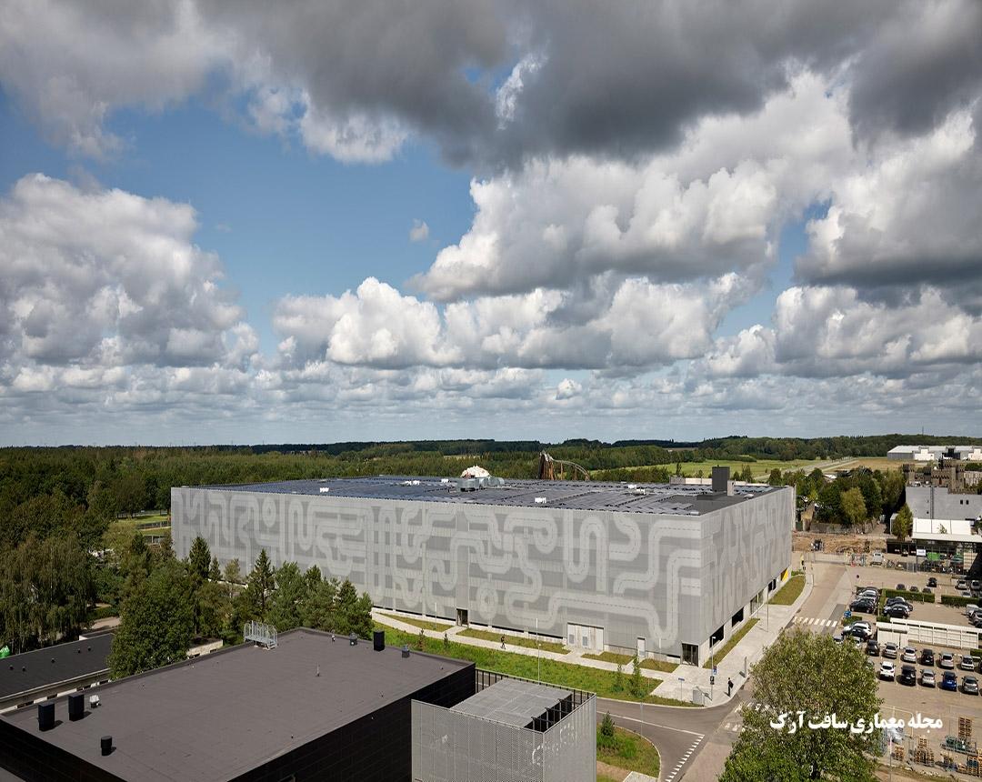پارکینگی در دانمارک با نقشه راه ها و طراحی برای ساخت لگوها