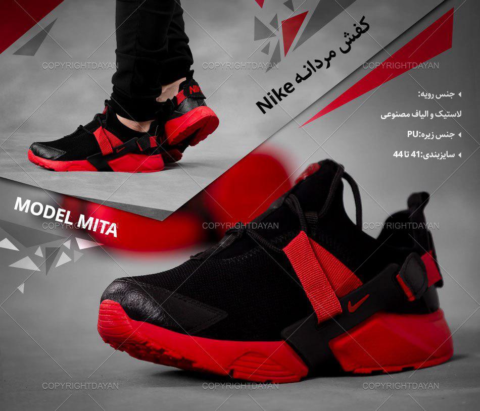 کفش مردانه Nike مدل Mita (مشکی قرمز)